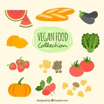 Coleção de vegetais e frutas