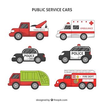 Coleção de veículos de serviço público