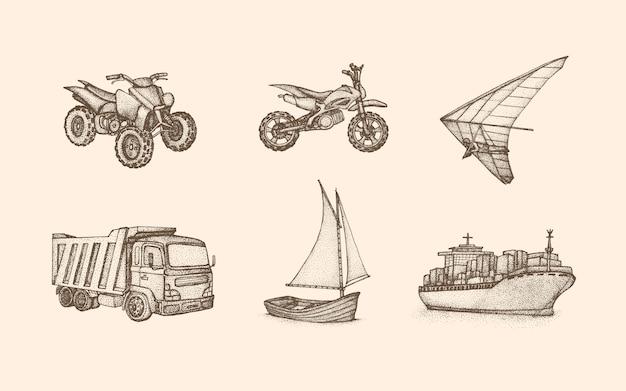 Coleção de veículos vintage