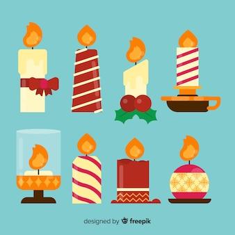 Coleção de velas de natal