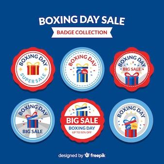 Coleção de venda de dia de boxe