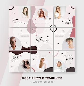 Coleção de venda de moda modelo de banner para feed de mídia social