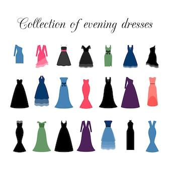 Coleção de vestidos de noite