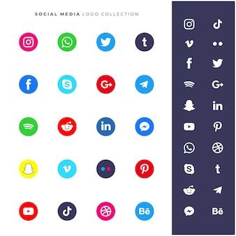 Coleção de vetor de logotipo de mídia social