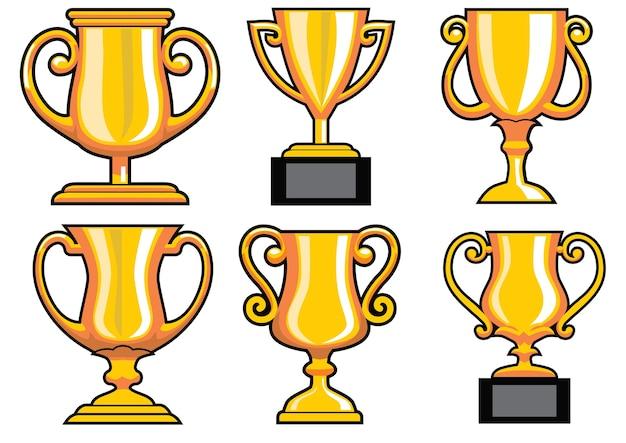 Coleção de vetor de troféu
