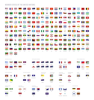 Coleção de vetores de bandeiras country