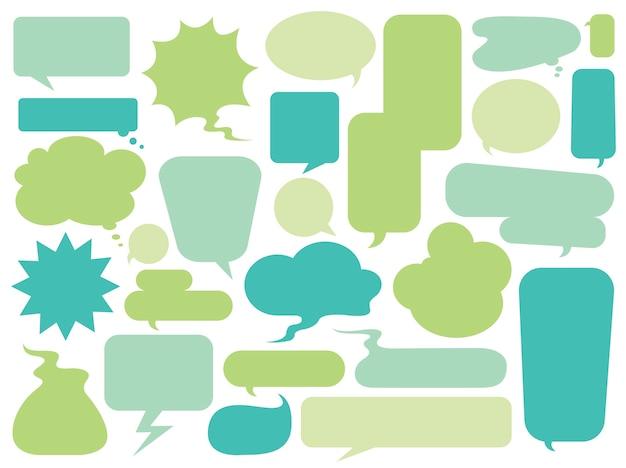 Coleção de vetores de bolhas coloridas do discurso