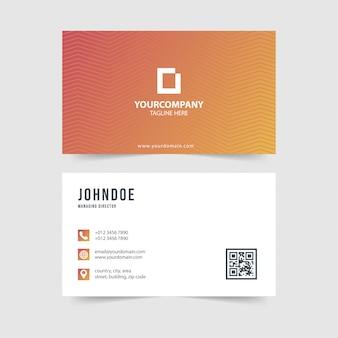 Coleção de vetores de cartão de visita gradiente