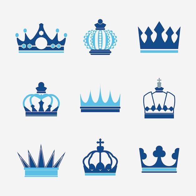 Coleção de vetores de coroa real