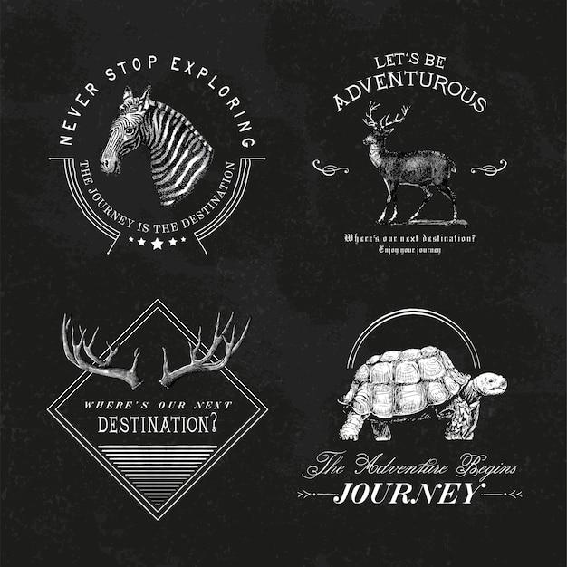 Coleção de vetores de design de logotipo de aventura