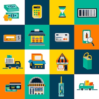 Coleção de vetores de elementos de comércio eletrônico