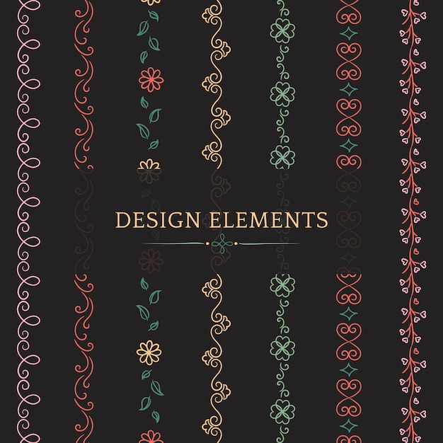 Coleção de vetores de elementos de design divisor