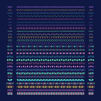 Coleção de vetores de elementos de design linha divisória