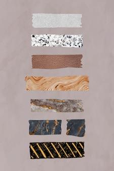 Coleção de vetores de fita washi