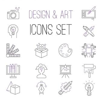 Coleção de vetores de ícones de equipe de designers