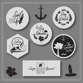 Coleção de vetores de logotipo de verão