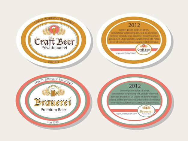 Coleção de vetores de modelos de logotipo desenhado de mão oktoberfest. cervejaria alemã, logotipos de cerveja. ícones e emblemas vintage. ícones modernos esboçados à mão. rótulos da oktoberfest.