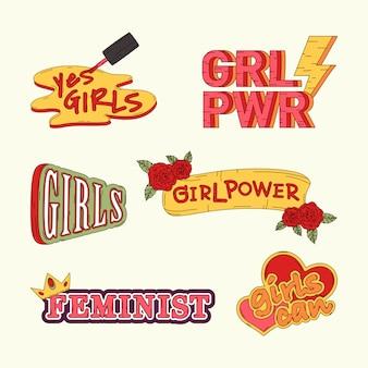 Coleção de vetores de poder menina