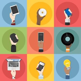 Coleção de vetores de tecnologia