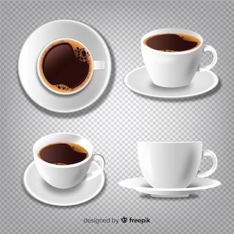 Coleção de xícaras de café