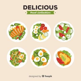 Coleção deliciosa salada