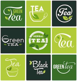 Coleção designs de chá