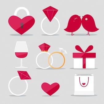 Coleção designs dos namorados