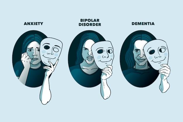 Coleção diferente de transtornos mentais