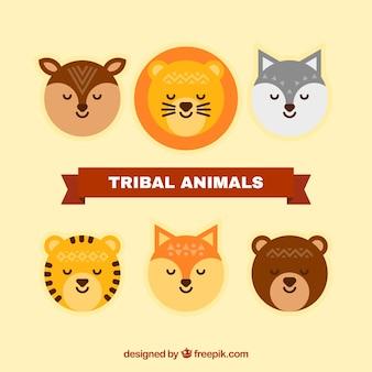 Coleção do animal tribal