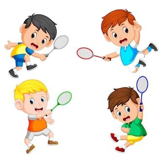 Coleção do badminton profesional