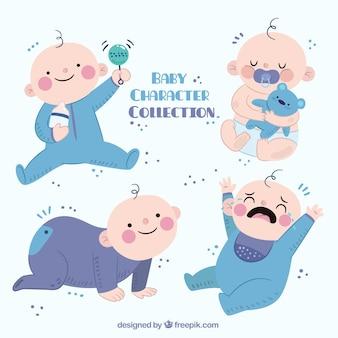Coleção do bebê bonito