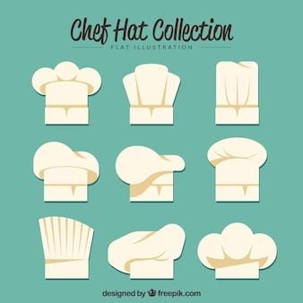 Coleção do chapéu do cozinheiro chefe no estilo do vintage
