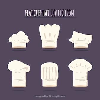 Coleção do chapéu do cozinheiro chefe