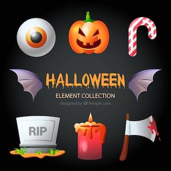 Coleção do elemento de halloween