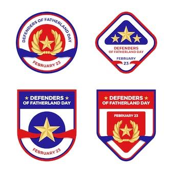 Coleção do emblema do dia do defensor da pátria