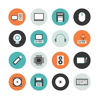 Coleção do ícone do computador