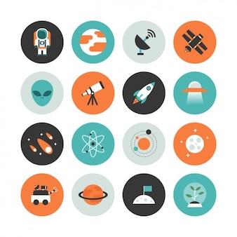 Coleção do ícone do espaço