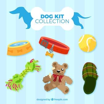 Coleção do kit para cães