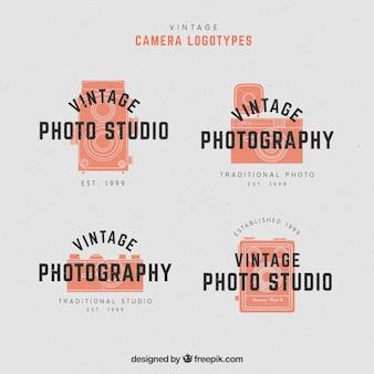Coleção do logotipo da câmera laranja