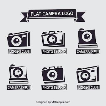 Coleção do logotipo da câmera plana
