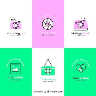 Coleção do logotipo da câmera