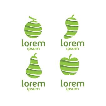 Coleção do logotipo da fruta
