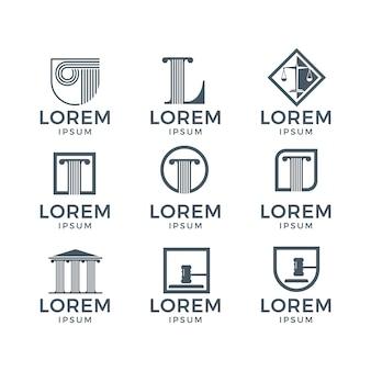 Coleção do logotipo da lei