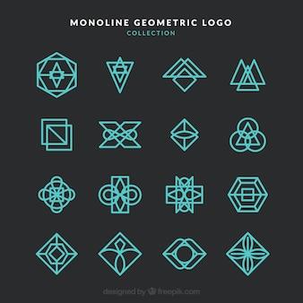 Coleção do logotipo da monolina moderna e escura
