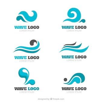 Coleção do logotipo da onda