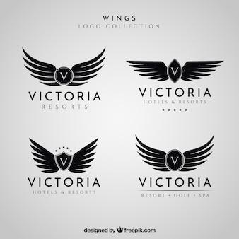 Coleção do logotipo das asas