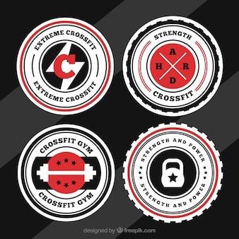 Coleção do logotipo de crossfit