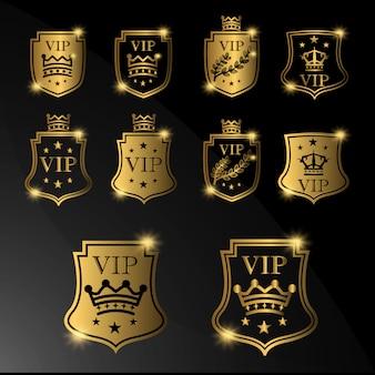 Coleção do logotipo de vip