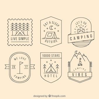 Coleção do logotipo do acampamento