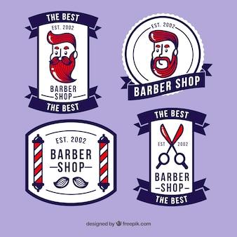 Coleção do logotipo do barbeiro